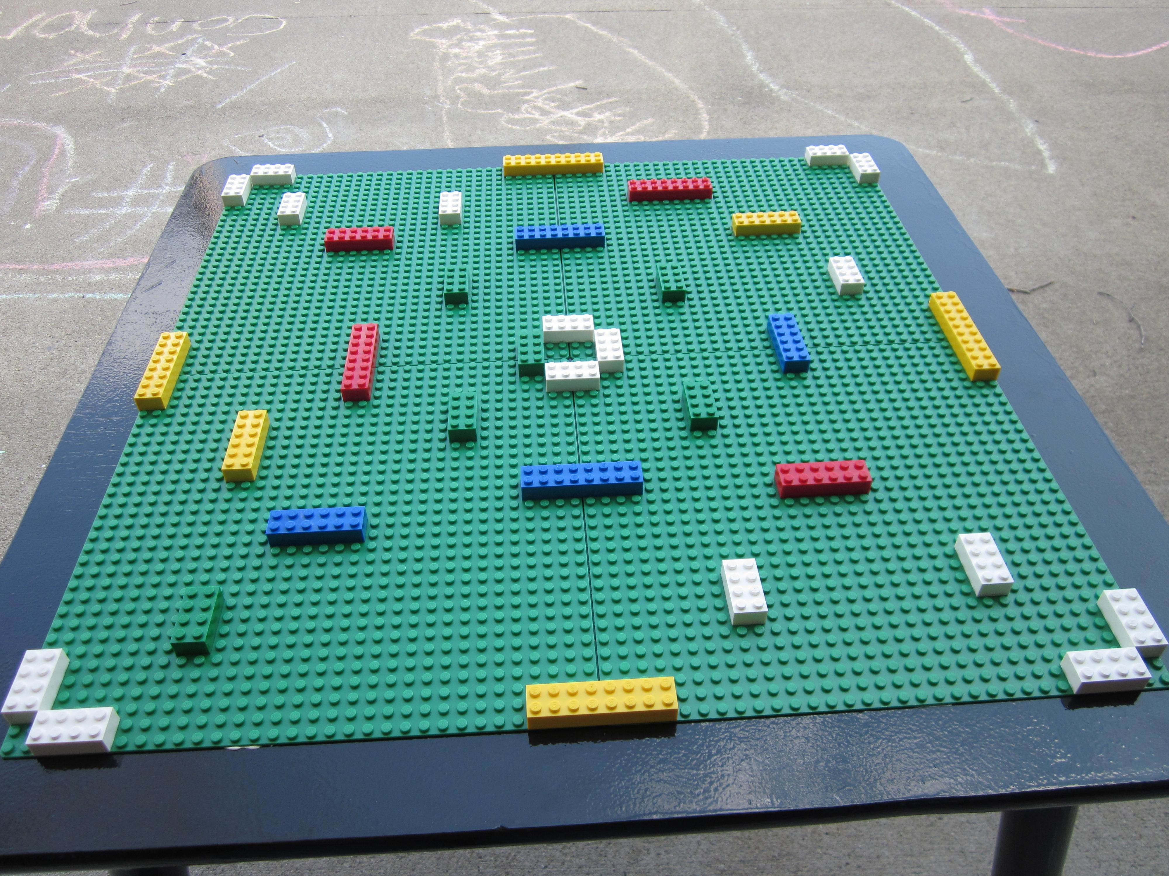 Homemade lego table our cozy den for Lego diy
